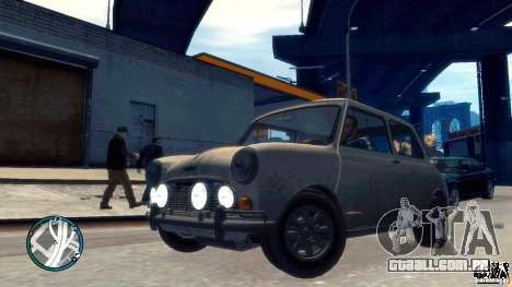 Mini Cooper S para GTA 4 vista de volta