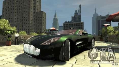 Aston Martin One-77 [EPM] para GTA 4 vista de volta