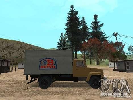 GAZ 3309 CR v2 para GTA San Andreas esquerda vista