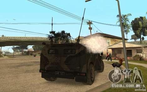 Gaz 2975 Tiger para GTA San Andreas traseira esquerda vista