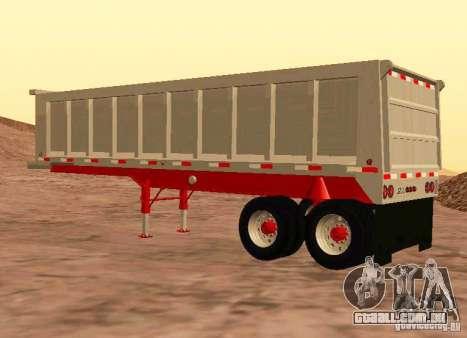 Artict3 Dump Trailer para GTA San Andreas vista direita