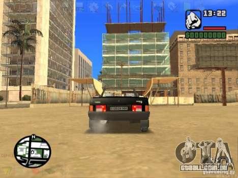 VAZ 2108 conversível para GTA San Andreas traseira esquerda vista