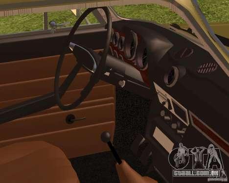 Retro VAZ 2106 para GTA San Andreas traseira esquerda vista