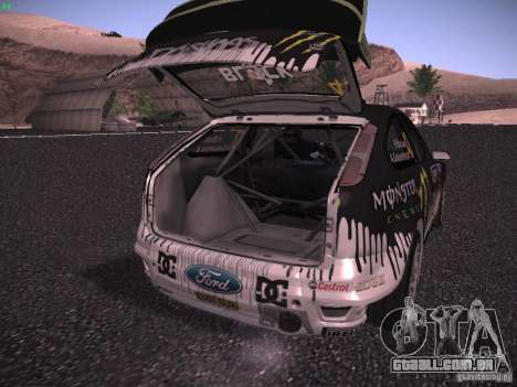 Ford Focus RS Monster Energy para vista lateral GTA San Andreas