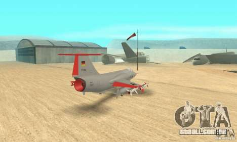 F-104 Starfighter Super (cinza) para GTA San Andreas esquerda vista