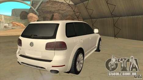 Volkswagen Touareg R50 para GTA San Andreas vista direita