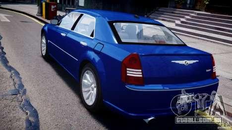 Chrysler 300C SRT8 Tuning para GTA 4 traseira esquerda vista