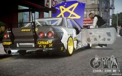 Nissan Skyline R32 FST Drift Korch para GTA 4 vista de volta
