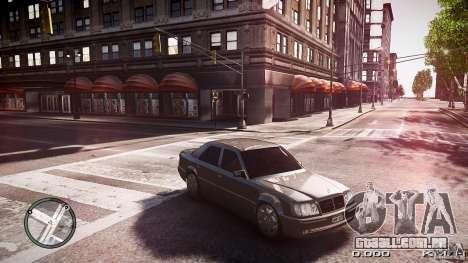 Mercedes Benz W124 E500 para GTA 4 traseira esquerda vista