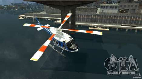 Bell412/NYPD Air Sea Rescue Helicopter para GTA 4