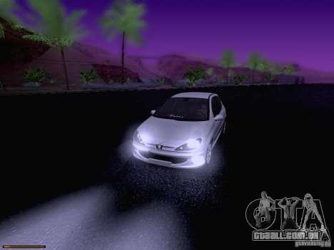 Peugeot 206 para GTA San Andreas interior