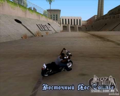 Harley Davidson FXD Super Glide para GTA San Andreas vista interior