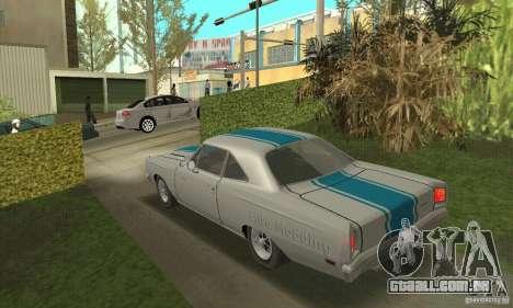 Plymouth Roadrunner 383 para GTA San Andreas vista interior