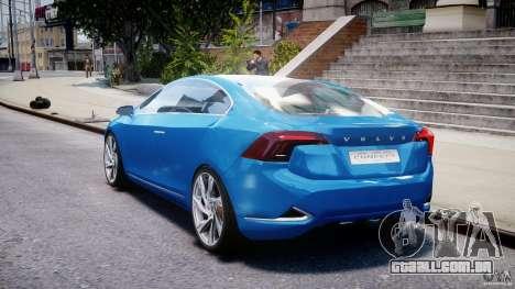 Volvo S60 Concept para GTA 4 traseira esquerda vista