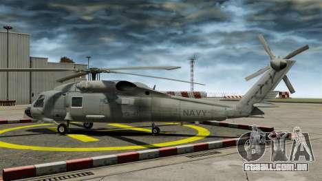 O helicóptero Sikorsky SH-60 Seahawk para GTA 4 esquerda vista