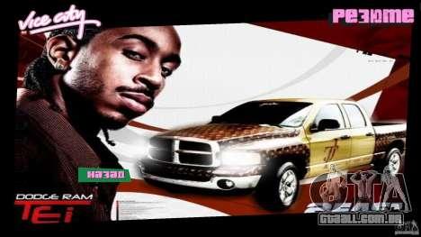 2 Fast 2 Furious Menu Ludacris para GTA Vice City segunda tela