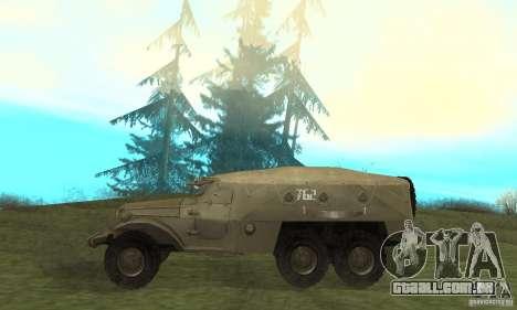 BTR-152 para GTA San Andreas traseira esquerda vista