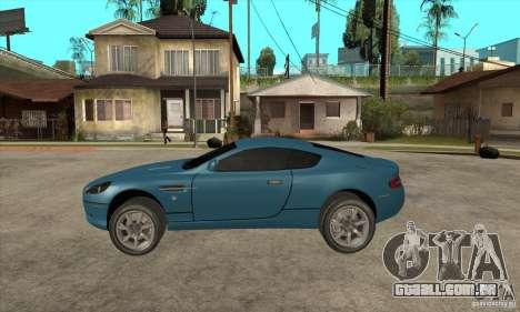 Aston Martin DB9 do NFS MW para GTA San Andreas esquerda vista