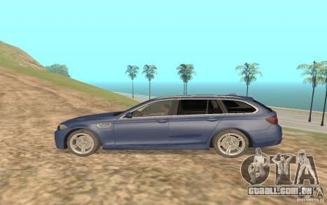 BMW M5 F11 Touring para GTA San Andreas vista direita