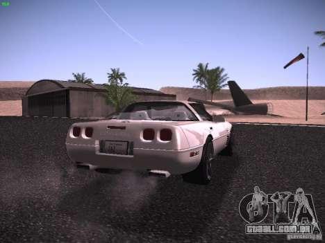 Chevrolet Corvette Grand Sport para GTA San Andreas vista direita