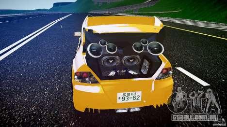 Mitsubishi Lancer Evolution para GTA 4 vista inferior