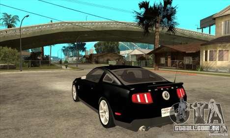 Ford Shelby GT 500 2010 para GTA San Andreas traseira esquerda vista