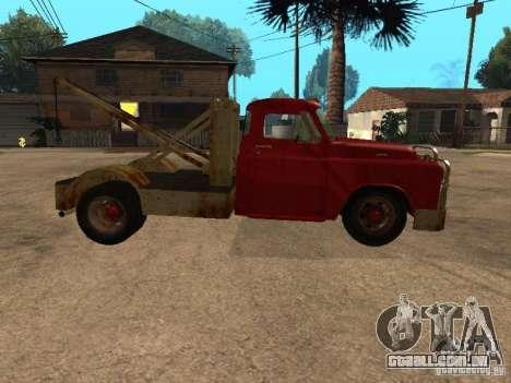 Caminhão Dodge é oxidado para GTA San Andreas vista interior