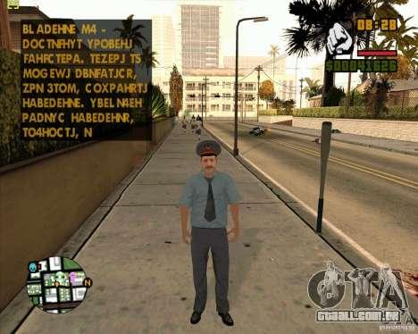 Pele polícia russa para GTA San Andreas terceira tela