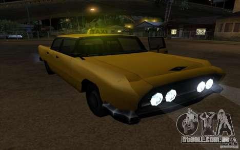 Oceanic Cab para GTA San Andreas vista direita