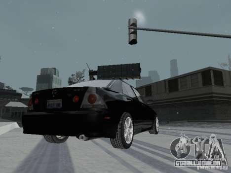Lexus IS300 para vista lateral GTA San Andreas