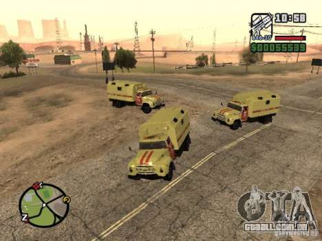 ZIL 130 Gorsvet do turno da noite para GTA San Andreas esquerda vista