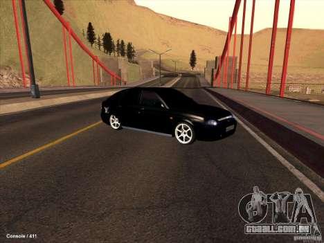 Lada 2170 Priora para GTA San Andreas vista superior