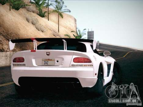 Dodge Viper SRT-10 ACR para GTA San Andreas