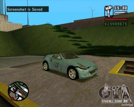 Nissan 370Z Roadster para GTA San Andreas vista direita