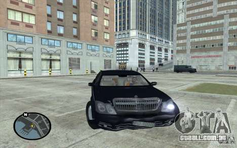 Maybach 62 para GTA San Andreas vista direita