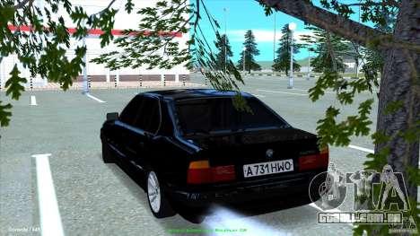 BMW E34 V1.0 para GTA San Andreas esquerda vista
