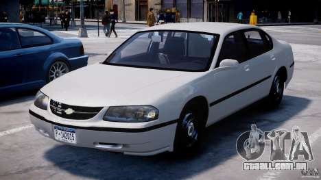 Chevrolet Impala Unmarked Police 2003 v1.0 [ELS] para GTA 4 vista de volta