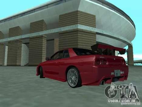Nissan Skyline R32 Tuned para GTA San Andreas traseira esquerda vista