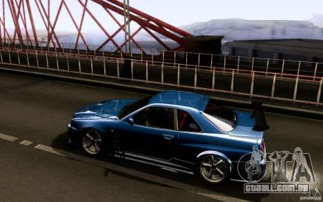 Nissan Skyline GT-R34 para GTA San Andreas vista direita