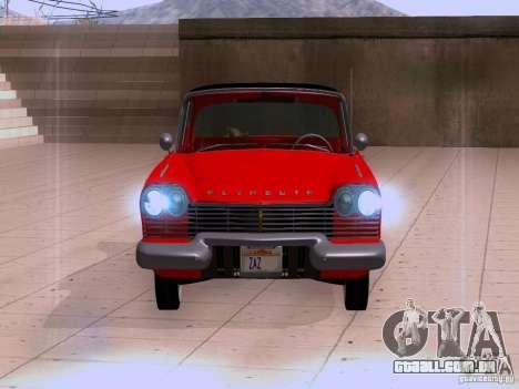 Plymouth Belvedere Sport Sedan 1957 para GTA San Andreas esquerda vista