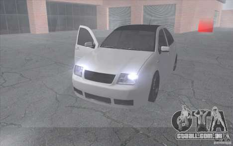 Volkswagen Bora para GTA San Andreas vista traseira