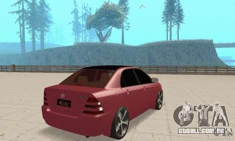 Toyota Corolla Tuning para GTA San Andreas esquerda vista