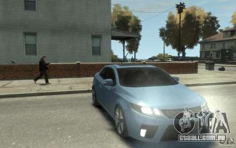 Kia Forte Koup SX para GTA 4 vista de volta