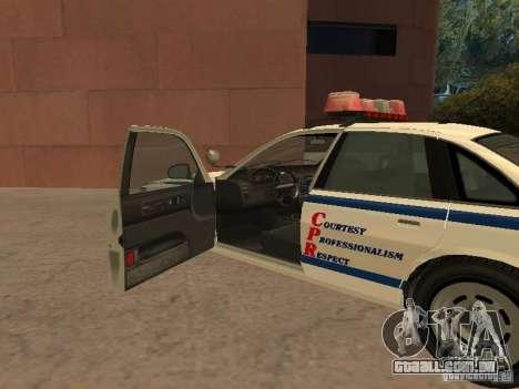 A polícia de GTA4 para GTA San Andreas vista traseira