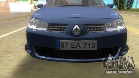 Renault Megane Sport para GTA Vice City deixou vista