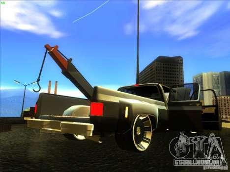 Chevrolet Silverado Towtruck para GTA San Andreas vista traseira