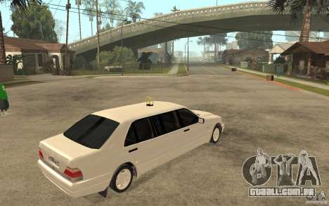 Mercedes-Benz S600 W140 1998 Pullman para GTA San Andreas vista direita