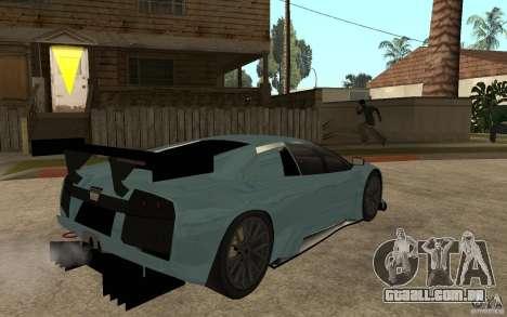 Lamborghini Murcielago R-GT para GTA San Andreas traseira esquerda vista