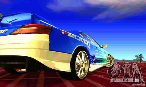 Nissan Silvia S15 8998 Edition Tunable para vista lateral GTA San Andreas