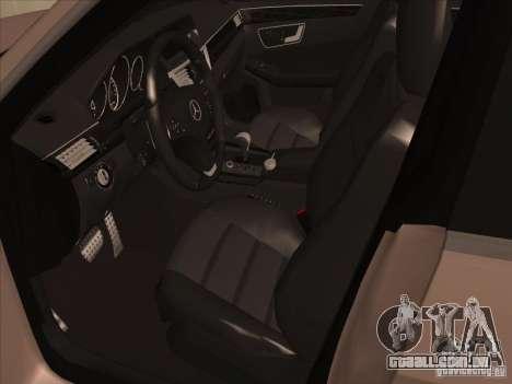 Mercedes-Benz E63 AMG Black Series Tune 2011 para GTA San Andreas vista traseira